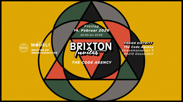 Brixton Invites - The Code Agency | Freitag, 14. Februar 2020