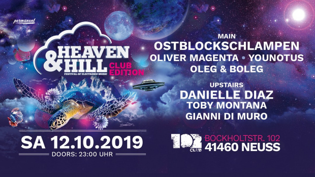 Heaven & Hill Festival - Club Edition | Samstag, 12. Oktober 2019