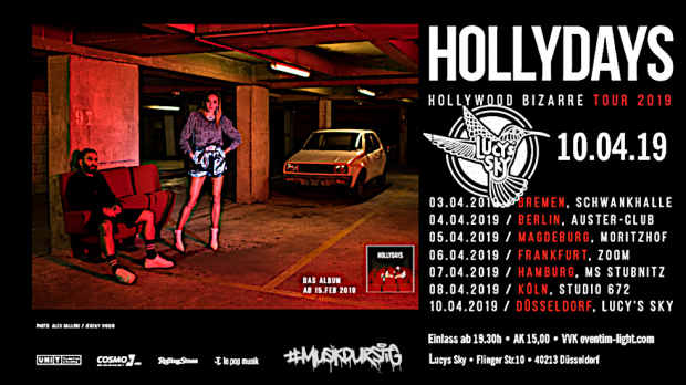 Hollydays | Mittwoch, 10. April 2019