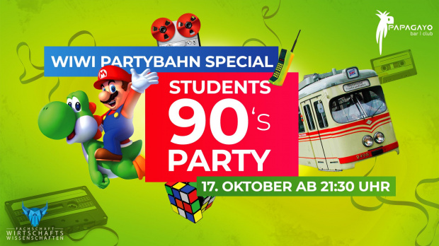 Students 90s Party - Wiwi Partybahn Special | Donnerstag, 17. Oktober 2019