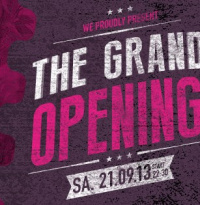 Grand Opening - Release The Lion | Samstag, 21. September 2013