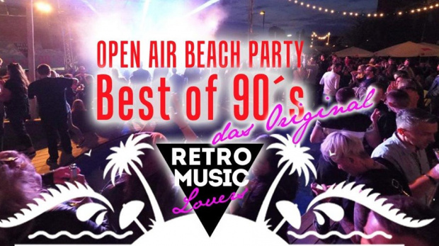 Die größte 90´s Open Air Beach Party | Samstag, 17. August 2019