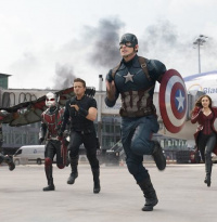 """The First Avenger: Civil War"": Superhelden am Leipziger Flughafen"
