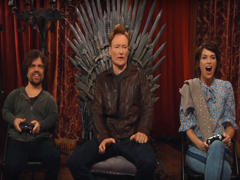 """And now my Overwatch begins"": Conan, Peter Dinklage und Lena Headey zocken Overwatch"