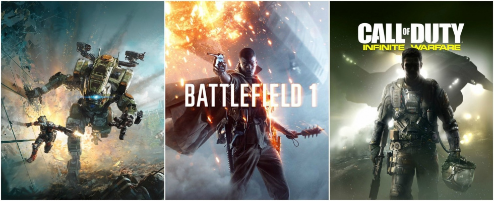 Shooter-Herbst 2016: Der Kampf um die Krone: Battlefield 1, Call of Duty: Infinite Warfare und Titanfall 2