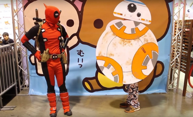 D Piddy macht die Anime Impulse 2016 unsicher: Deadpool vs. BB-8