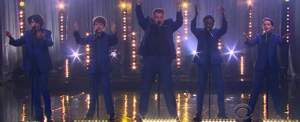 "The Late Late Show with James Corden: Upside Down - Die ""Stranger Things""-Jungs als Motown Band"