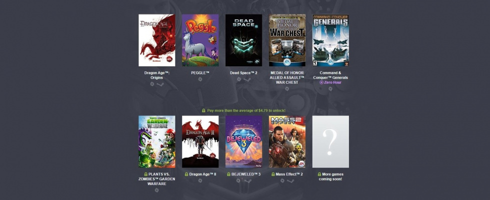 Plants vs. Zombies: Garden Warfare, Dragon Age und mehr!: Humble Origin Bundle: EA-Games extrem günstig absahnen!