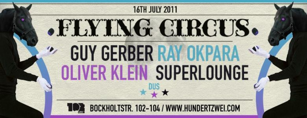 Guy Gerber und Ray Okpara an den Decks: Flying Circus im 102