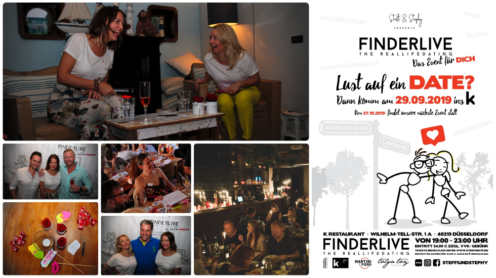 "Charmantes Dating-Event mit neuer Location: ""Finderlive"" flirtet im K Restaurant"