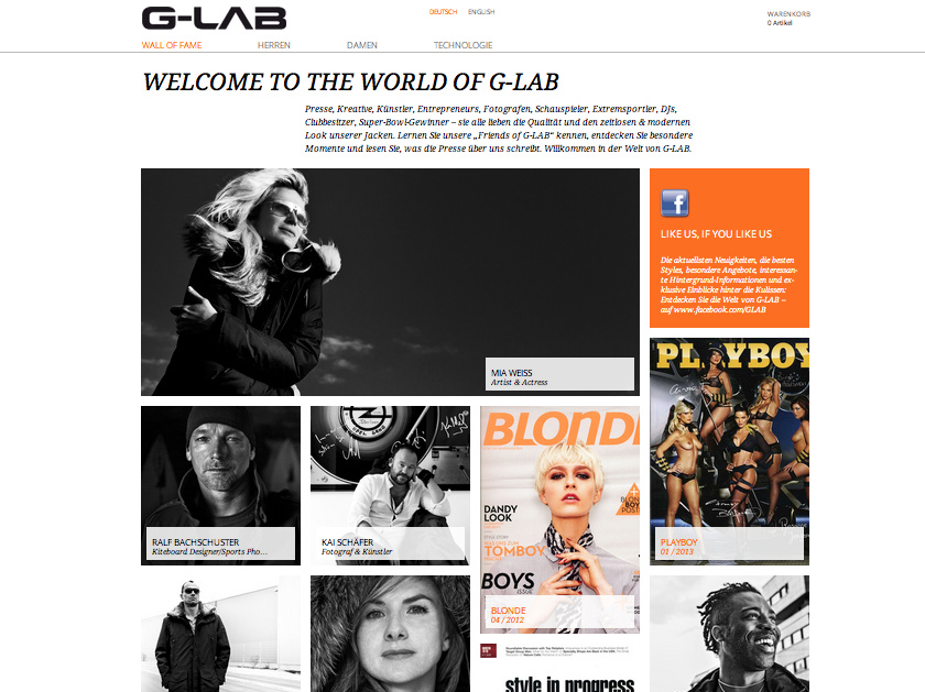 "Die ""Friends of G-LAB""."