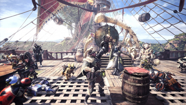 monster-hunter-world held mit Katze (image/jpeg)